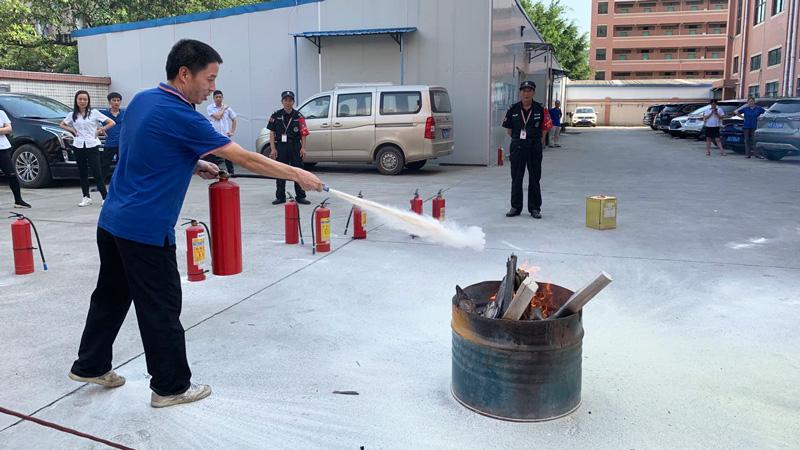 东莞市维运电子科技有限公司举行2020消防演习